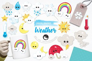 Weather illustration pack