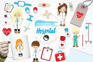 Hospital illustration pack