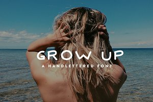 Grow Up - Hand Lettered Font