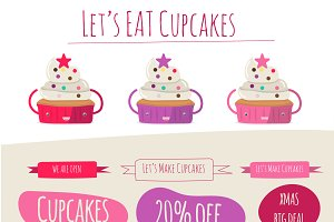 Let's Eat Cupcake vector