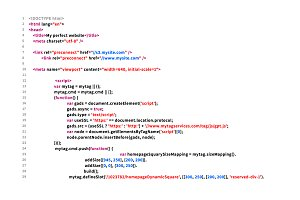 Simple website HTML code