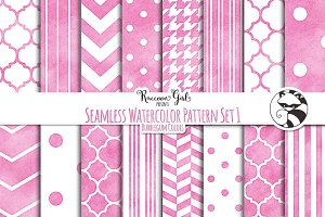 Seamless Watercolor Patterns #1 bg