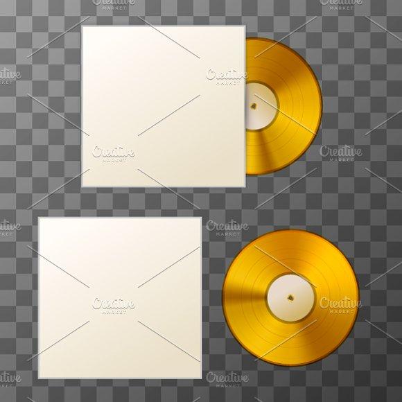 Blank Golden Album Vinyl Disc