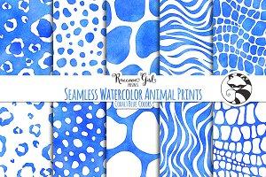 SeamlessWatercolor Animal Prints cob