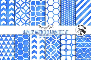 Seamless Watercolor Geometrics cob