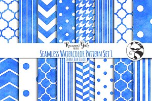 Seamless Watercolor Patterns #1 cob