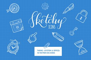 Sketchy Icons: Office&System
