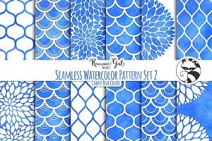 Seamless Watercolor Patterns #2 cob