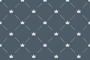 Luxury pattern with white crowns