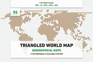 Triangled World Map