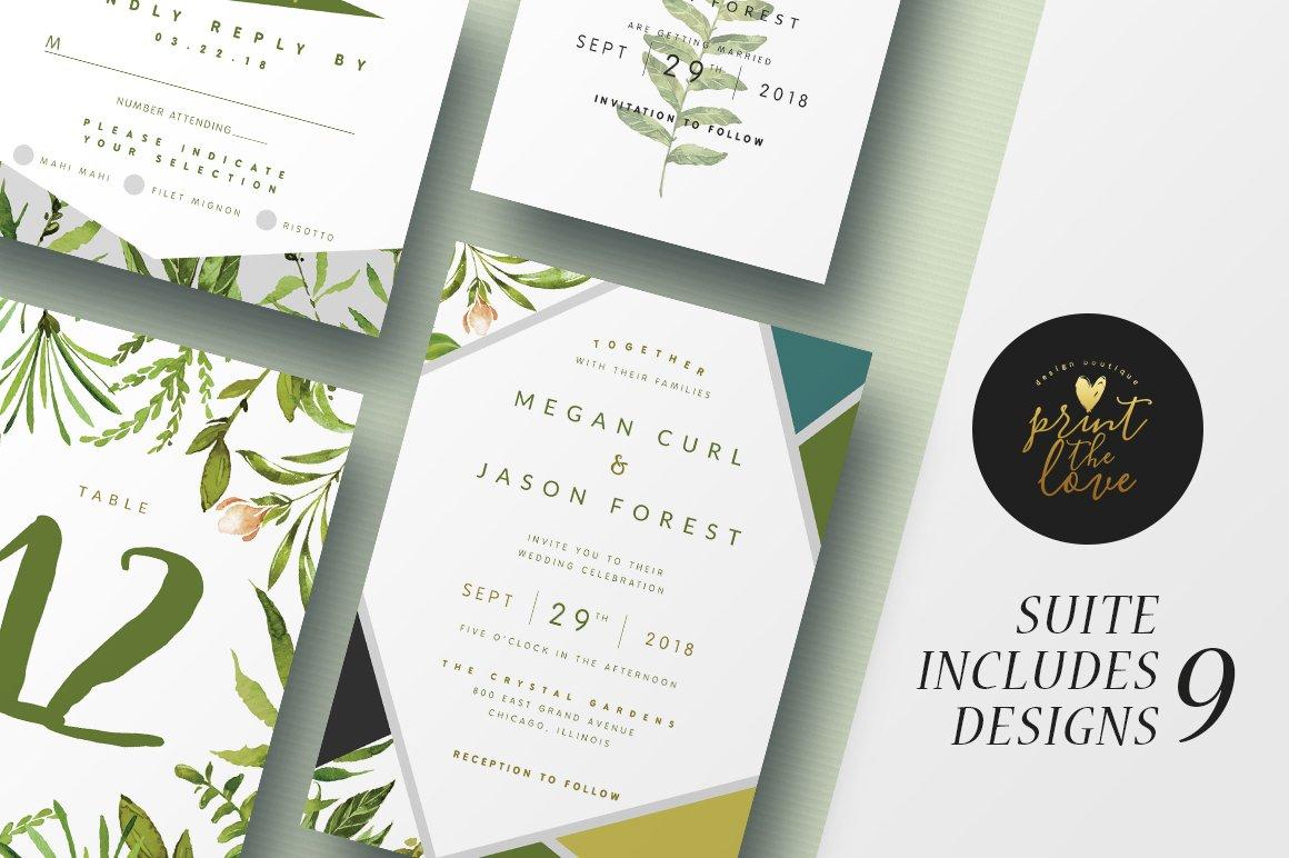 Wedding Invitation Suite - Botanika ~ Invitation Templates ...