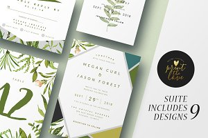 Wedding Invitation Suite - Botanika