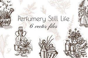 Perfumery still life