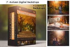 Autumn Backdrops - 7 Digital