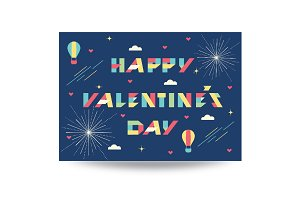 Valentine's Day Typographic art