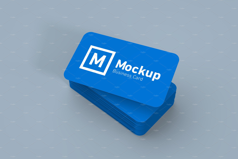 Round edges business card mockup product mockups creative market colourmoves Images