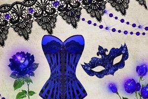 Gothic Debutante Clipart