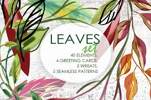 Artistic Leaves Set