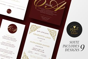 Wedding Invitation Suite - Charlotte