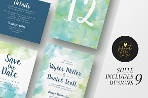Wedding Invitation Suite - Skyler