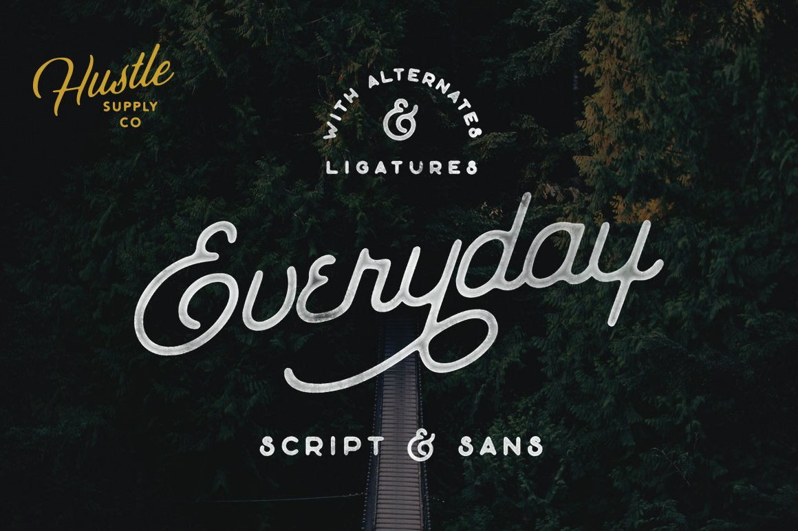 The everyday font duo script fonts creative market