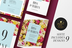Wedding Invitation Suite - Rose