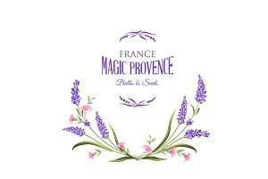 Lavender sign label.