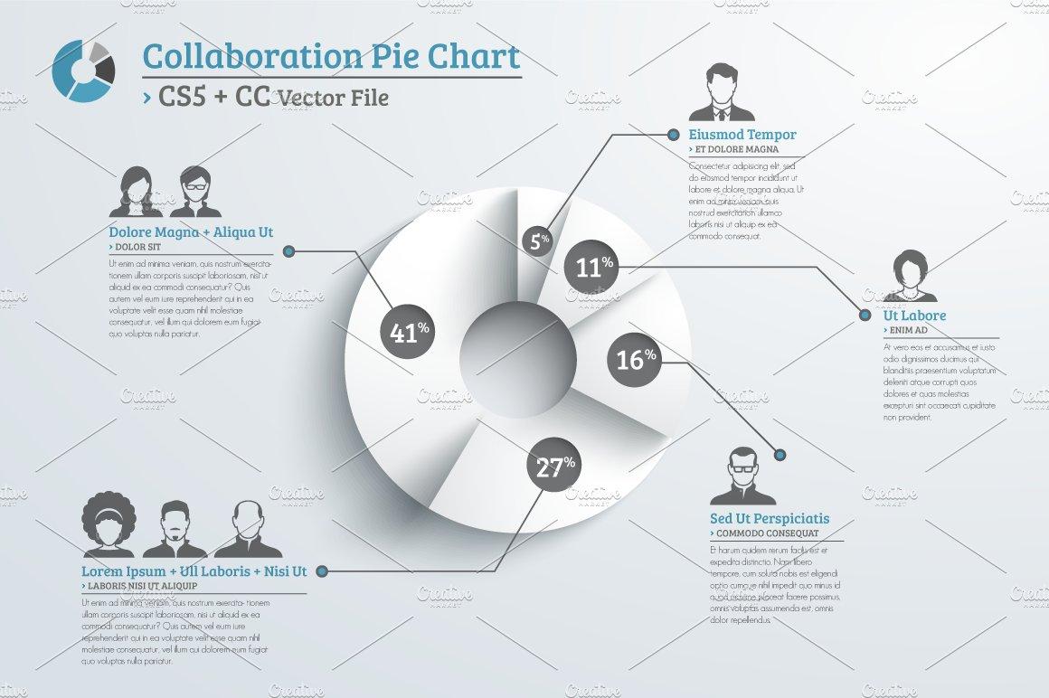 Team work pie chart infographic illustrations creative market geenschuldenfo Image collections