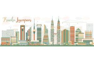 Abstract Kuala Lumpur Skyline
