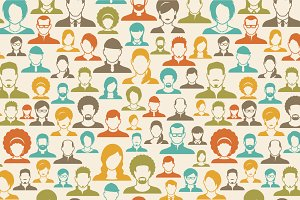 people profile icons pattern