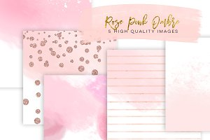 rose gold paper watercolor paper