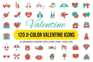 Valentine's Day Color Vector Icons