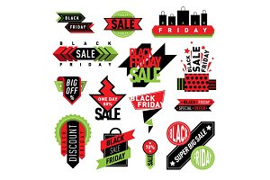 Sale badge stickers percent discount symbols vector illustration.