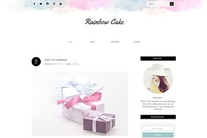 Blogger Template - Rainbow Cake