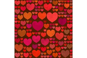 Retro Valentines Day seamless pattern