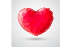 Shiny heart gem symbol