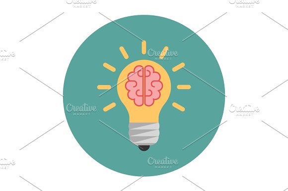 Light bulb with a brain inside