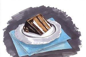 Desserts sketch.