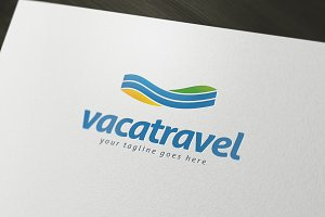 Vaca Travel Logo Template