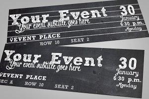 Chalkboard Multipurpose Ticket
