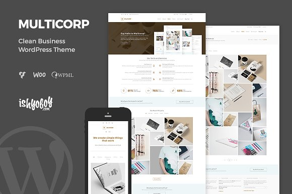 Multicorp - Clean Business WP Theme ~ WordPress Business The ...