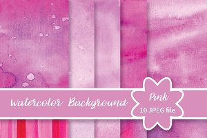 №230 Watercolor pink background