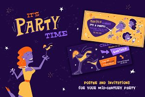 It's Party Time! Mid-century Pack