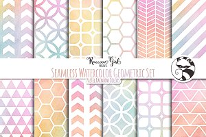 Seamless Watercolor Geometrics PR