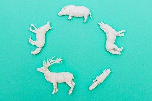 circle of animals miniature