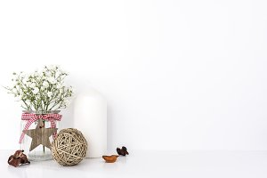 Flower & Candle Styled Scene