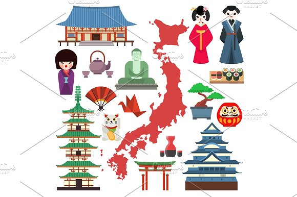 Vector Japan Culture Icons