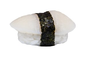 Nigiri sushi with tuna isolated