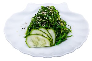 Seaweed salad with cucumber