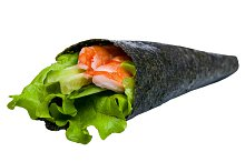 Sushi nori with tuna and shrimp